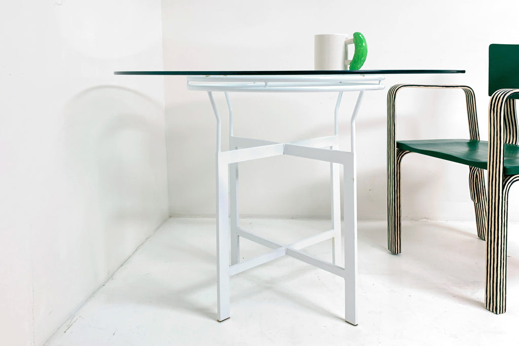 Round Glasstop Table
