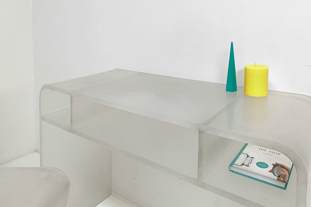 Frosted Lucite Desk