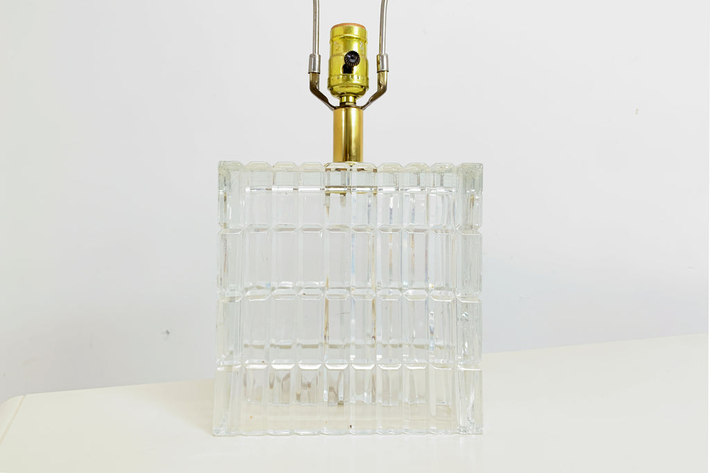 Glass Brick Lamp