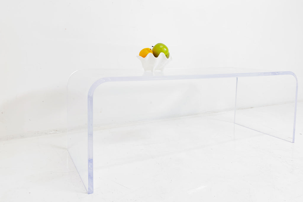 Lucite Waterfall Table