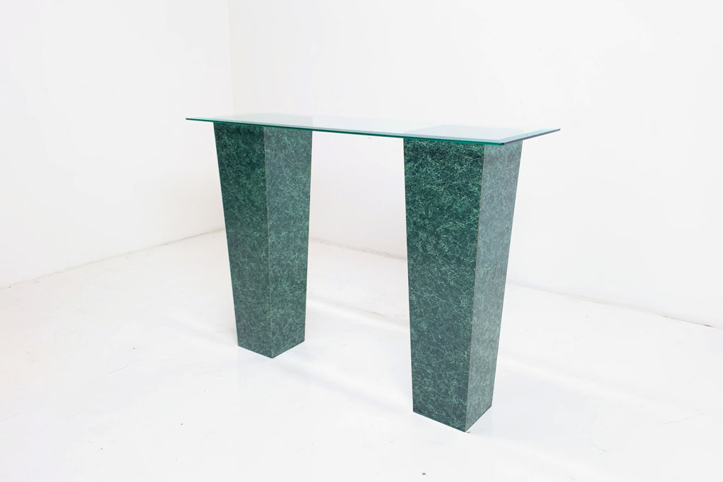 Marbled Pedestal Console