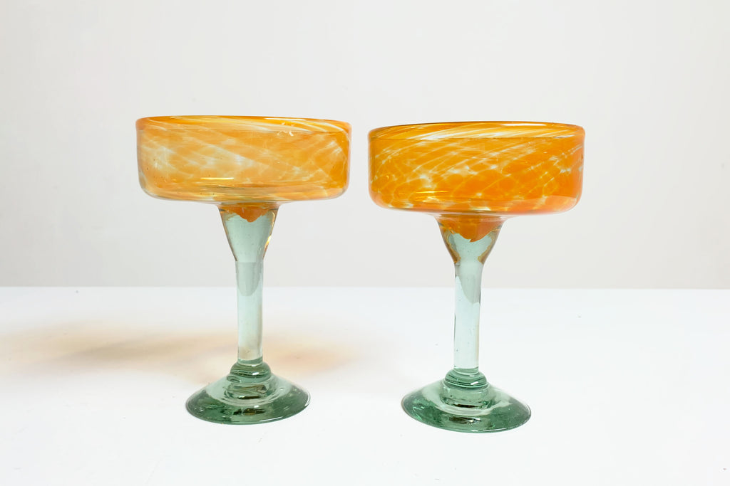 Orange Swirl Glasses