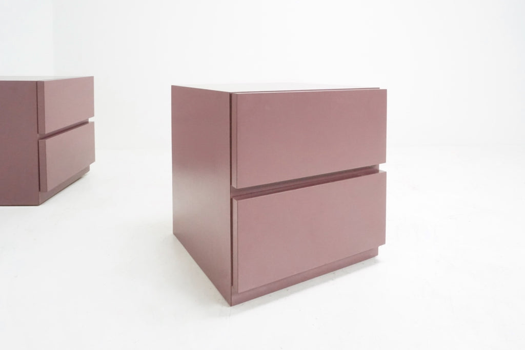 Mauve Laminate Nightstands