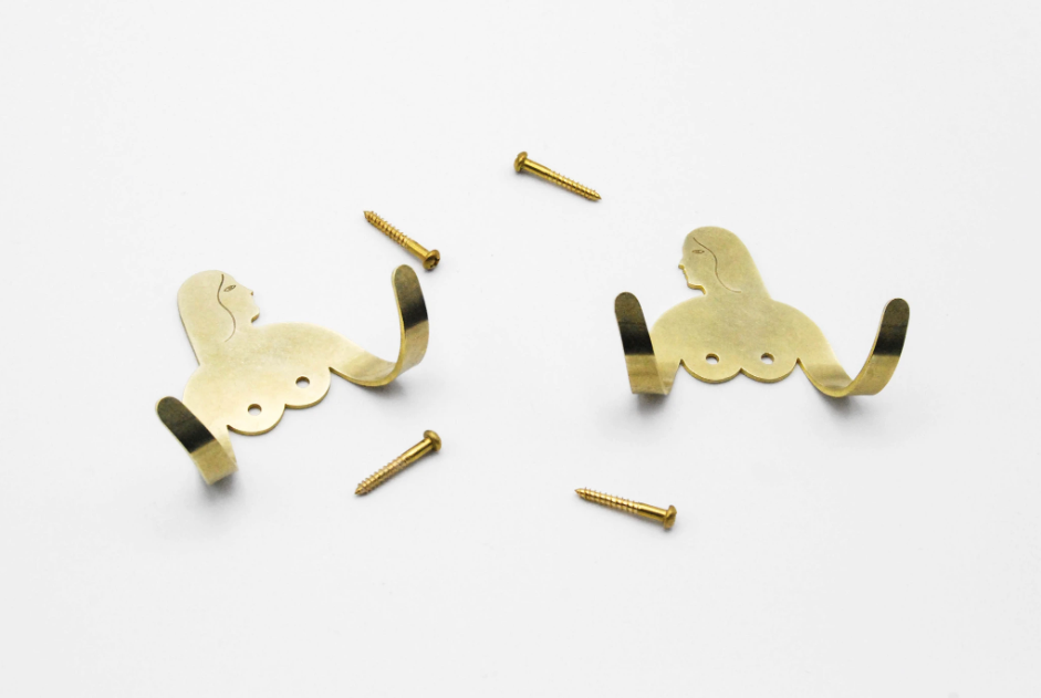Brass Female Support Hooks