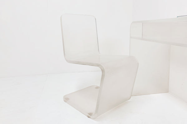 Molded Lucite Chair