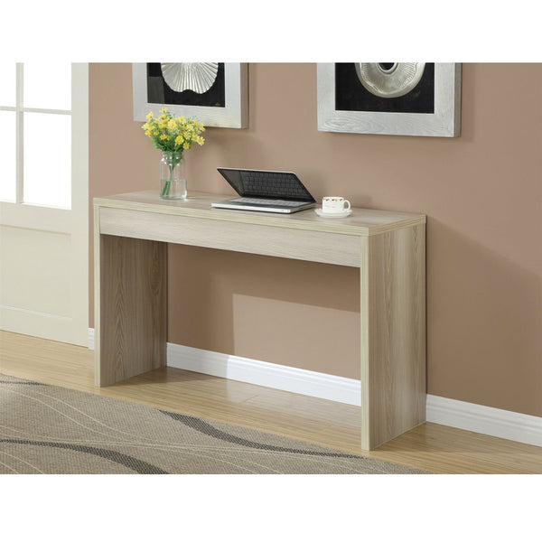 Contemporary Sofa Table Console Table in Weathered White Wood Finish ...