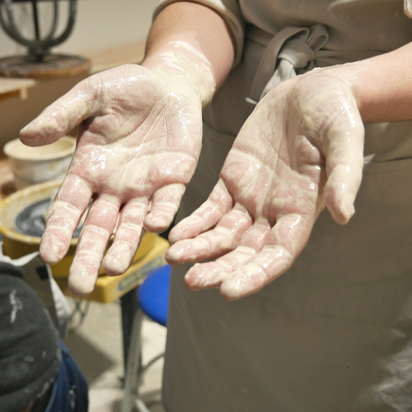 Messy hands make great pottery