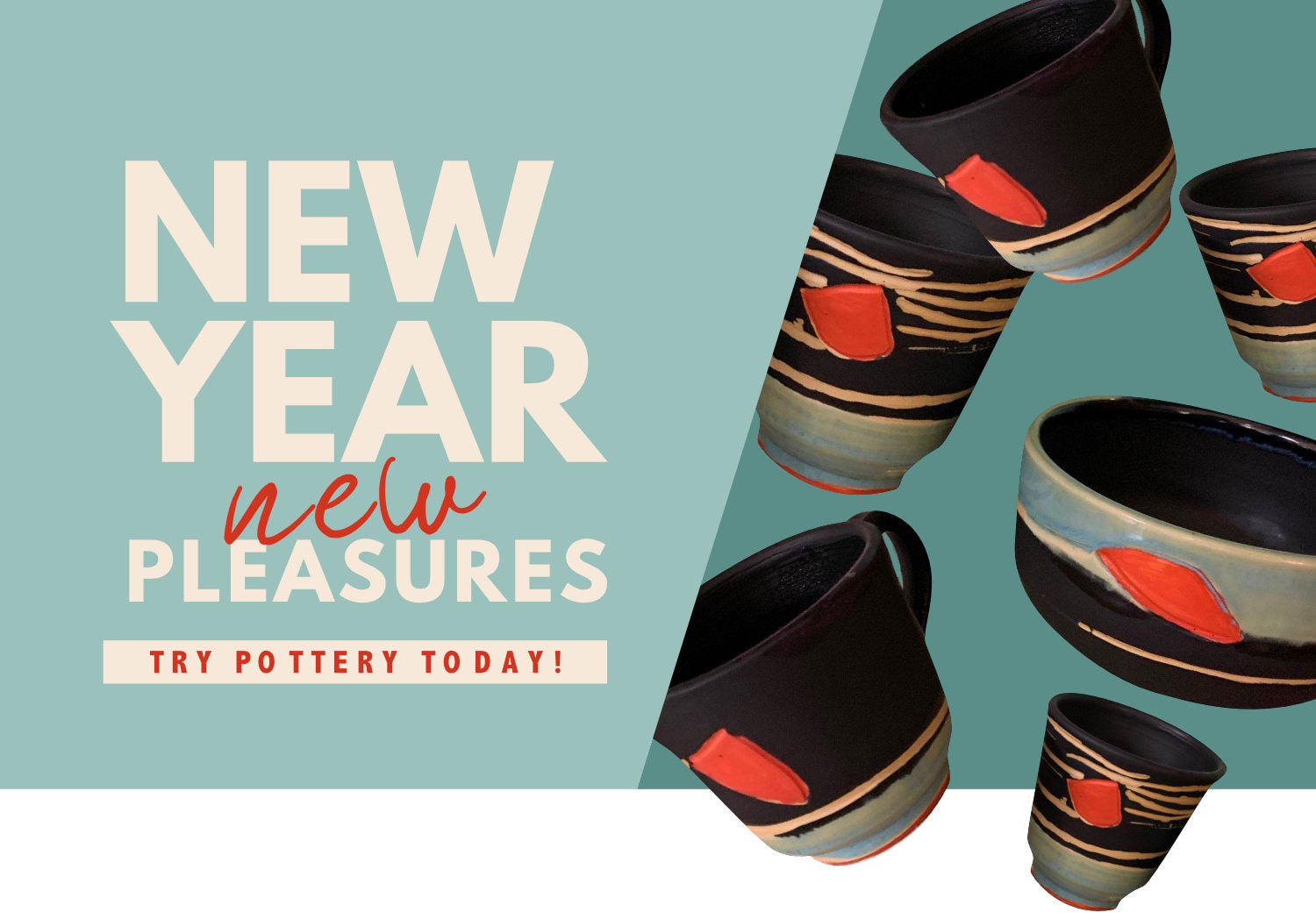 Start the New Year off with the pleasures that come with learning Pottery
