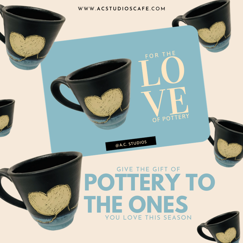 Give the gift of pottery to our Alpharetta Pottery Studio!