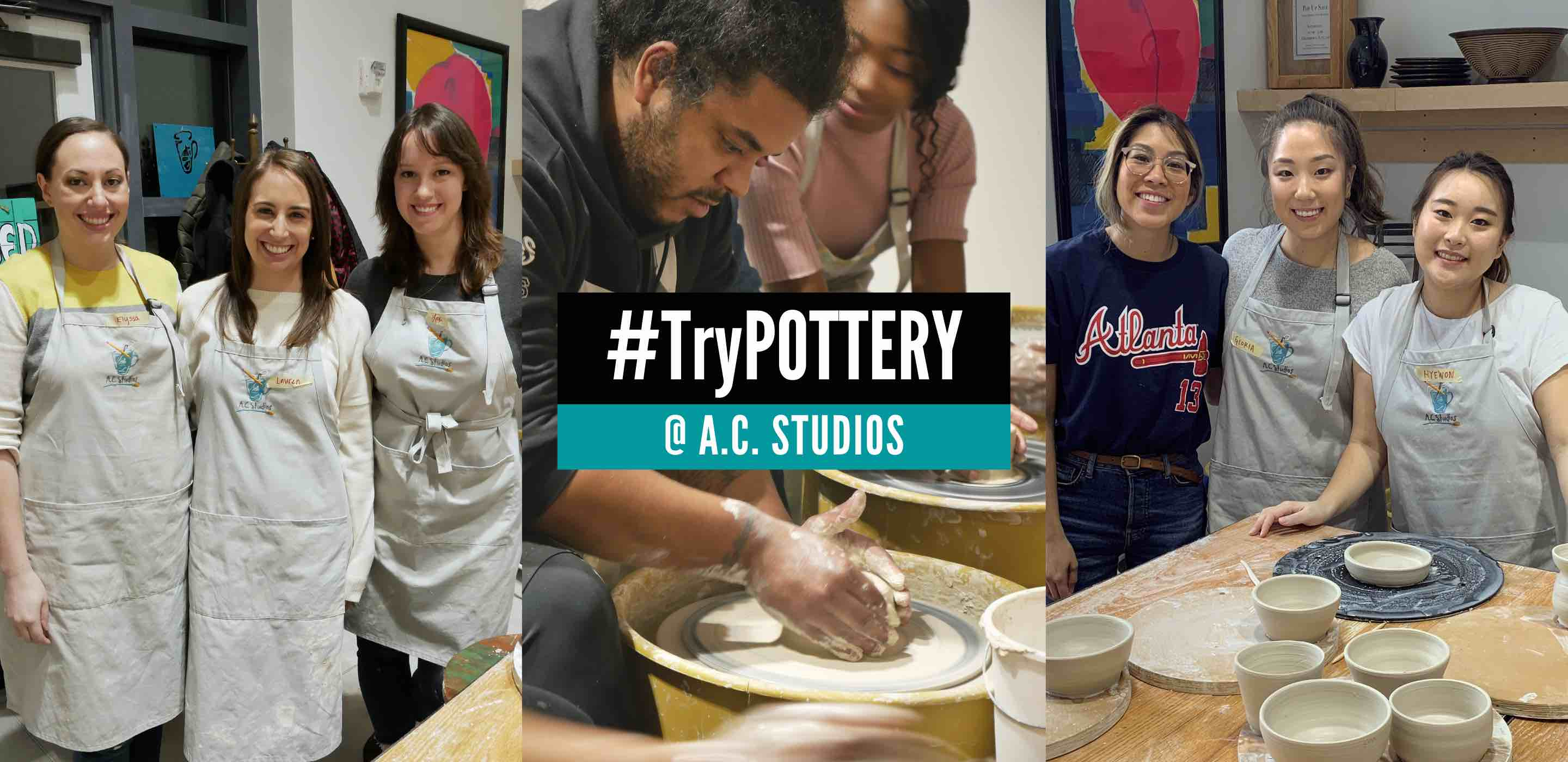 Try pottery at our Alpharetta Ceramic Studio with this discount code.
