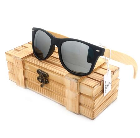 Mens Wood Grain Framed Sunglasses Retro Casual Polarized