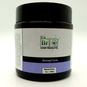 Shaving Cream with hemp seed oil, by its bro hemp