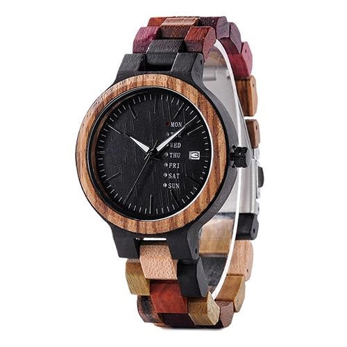 Multi Color Wood Grain Watch