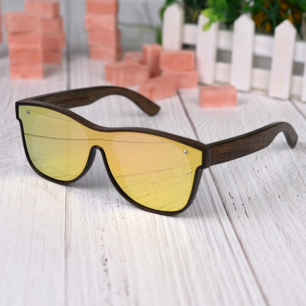 Wood Frame Sun Glasses - Luxury Square Polarized Lens