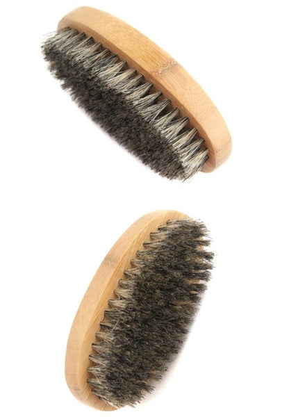 Two angle shot of beard brush