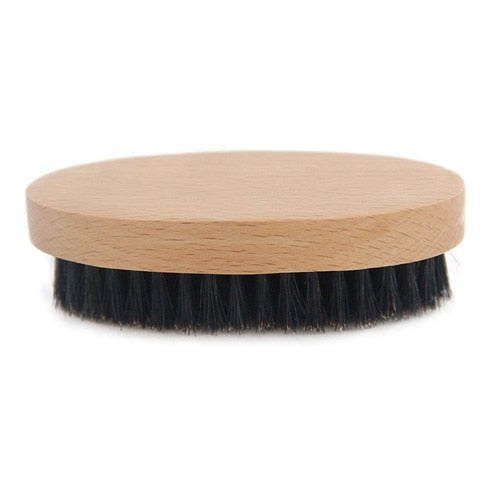 Side view of beard brush
