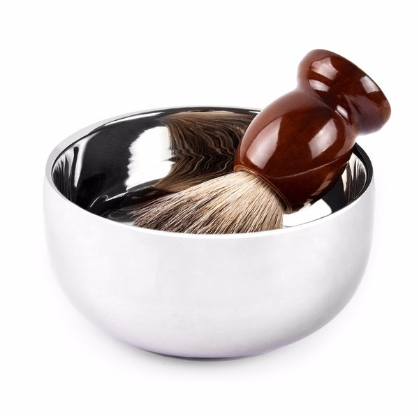 Shaving Soap Bowl - Stainless With Lid