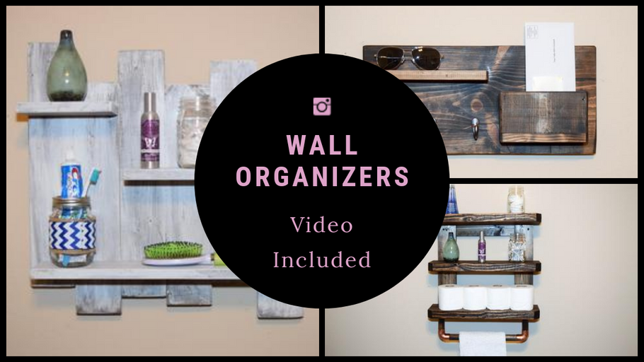 (Video) Rustic Entryway Storage Organizers - Past to Present!