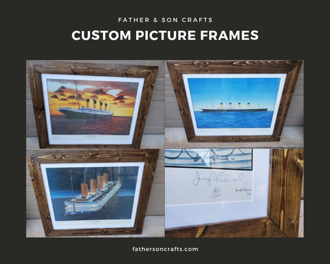 Custom Picture Frames with Matte Boards
