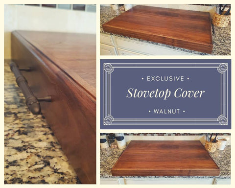 Dark Walnut Stovetop Cover
