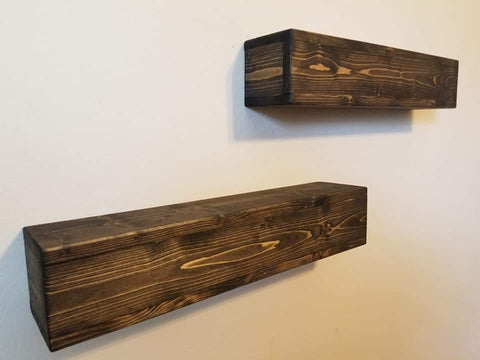Dark Walnut 3 foot long floating shelves Cypress TX