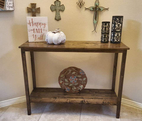 Entryway Table with lower shelf