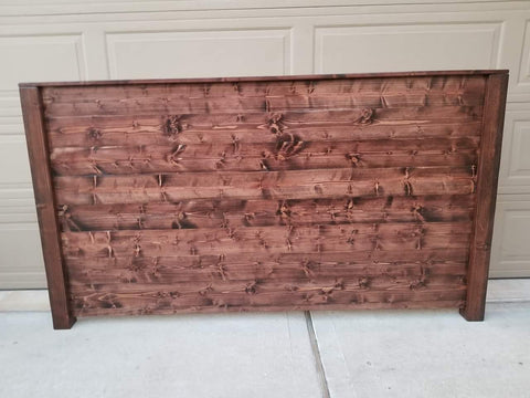 Red Mahogany King Size Headboard Bed