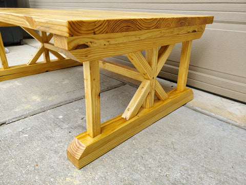 Outdoor Golden Pecan Coffee Table side in Urethane Finish