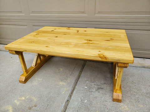 Outdoor Golden Pecan Coffee Table top in Urethane Finish