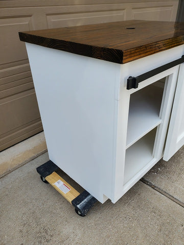 Farmhouse Sliding Door Sink Console Side