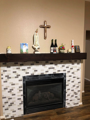 Wood Shelf Mantel in Houston, TX  Wood Mantel in Cypress, TX