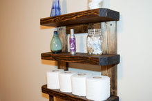 Load image into Gallery viewer, Rustic Wood Wall Shelves Rack Towel - Bathroom Kitchen