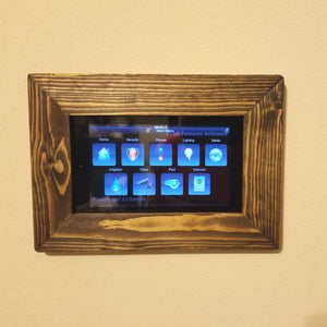 Tablet Wall Mount Wood Frame - Fire 7 - Fire HD 8 - Fire HD 10 - Samsung Tab A 10.5