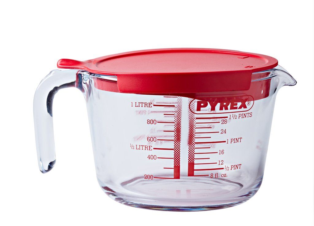 Classic Glass Measure jug High resistance 1,0 L with lid