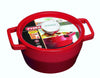 SlowCook Cast iron red Round Casserole - compatible with oven and induction hobs