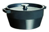 SlowCook Cast iron grey Round Casserole - compatible with oven and induction hobs - 28 cm