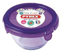 My First Pyrex + - Round Baby Food Storage Purple- 11x6 cm - 0,2 L