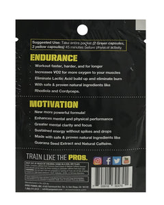 Pre-Race pack   1 skammtur  (3 endurance og 2 motivation hylki)