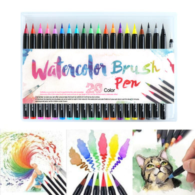 20/24/48 PCS Colors Art Marker Watercolor Brush Pens for School Supplies Stationery Drawing Coloring Books Manga Calligraphy