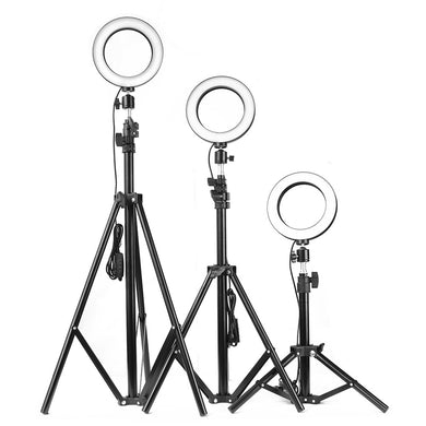 16cm/26cm/30cm Ring Light with 160cm tripod LED Lamp Beads 3-color Adjustable Photography  Video Light For Makeup photo Live