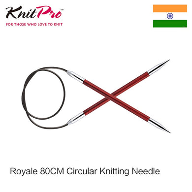 1 piece Knitpro Royale 80 cm Fixed Circular Knitting Needle