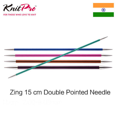 1 piece Knitpro Zing 15 cm double pointed knitting needle
