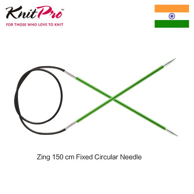 1 piece Knitpro Zing 150cm Fixed Circular knitting  Needle