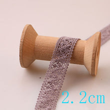 Load image into Gallery viewer, 5 yard lot woven cotton lace trim DIY sewing curtain craft decoration baby blue baby pink cotton trim lace ribbon