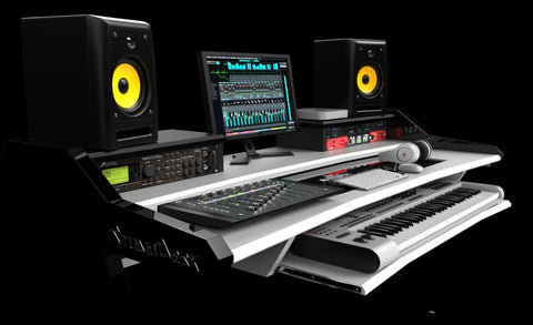 Beat Studio Desk White Workstation for music producers