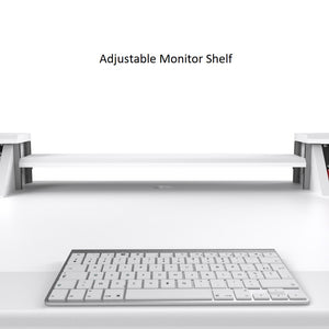 Commander V2 Desk All White
