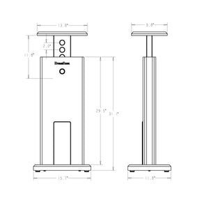 Speaker Stand Pro Tower Black