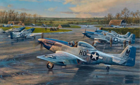 Checking Out - Aviation Art by Anthony Saunders
