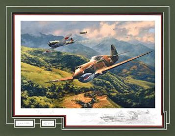 Tiger Fight - Aviation Art by Anthony Saunders