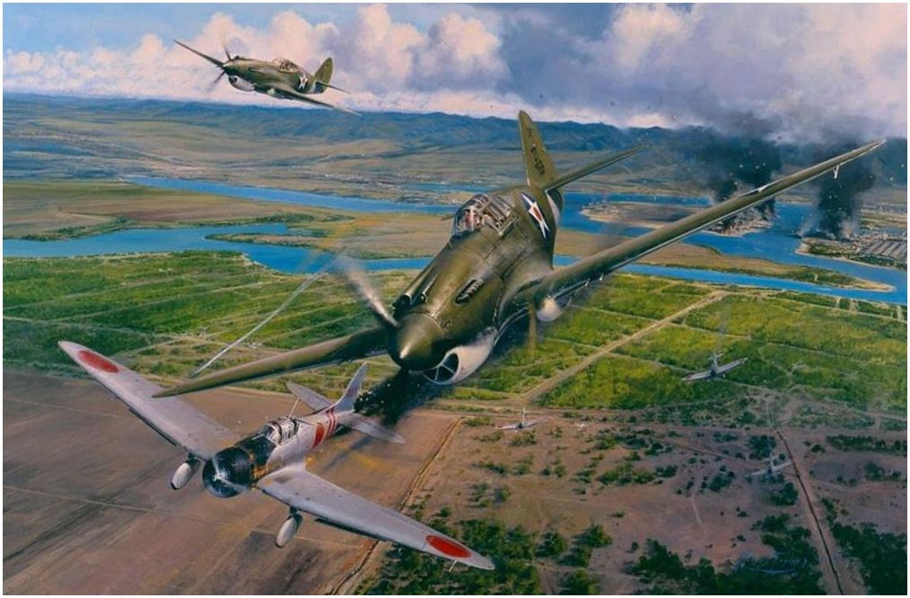 America Strikes Back by Robert Taylor -  Aviation Art